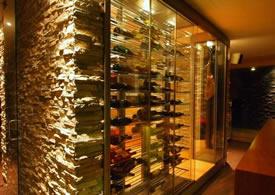 Wijnvitrines